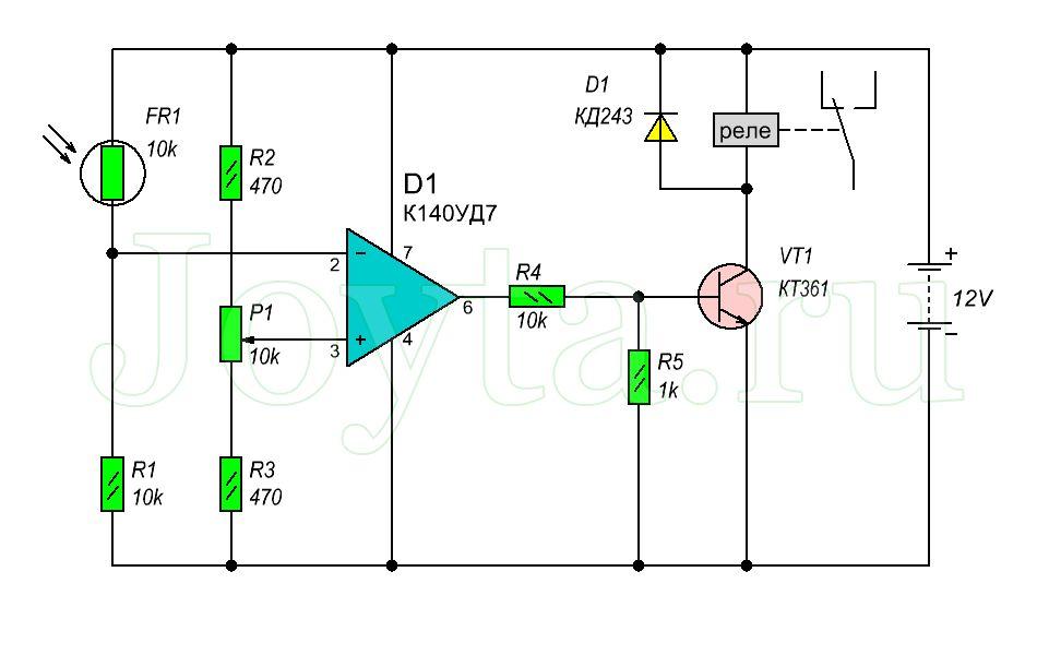 изображением схема фотодиодного датчика уловителя солнца необходимости прижим угол
